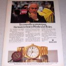 1986 ROLEX Day Date Oyster Perpetual Chronometer Watch Color Ad Racing Celebrity Roger Penske