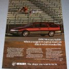 1986 Mercury Sable Wagon Automobile Color Car Ad