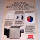 1985 Sharp SF-9500 Console Copier Color Ad