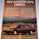1986 Chrysler LeBaron GTS Automobile Color Car Ad