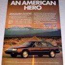 1986 Chrysler LeBaron GTS Automobile Color Car Ad