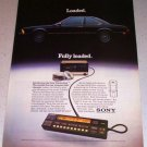 1986 Sony DiscJockey CD Compact Disk Player Color Ad