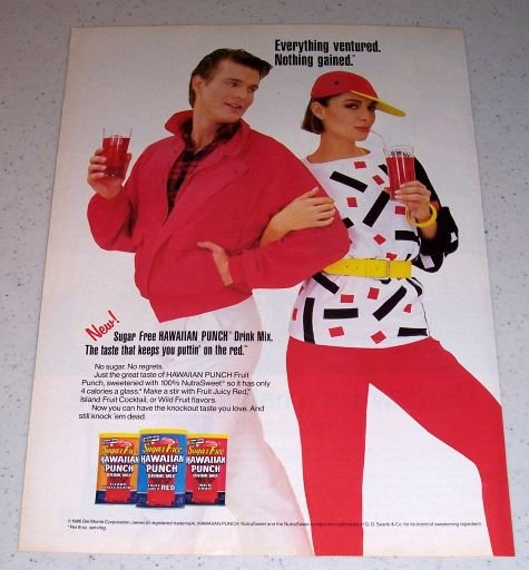 1986 Colorful Hawaiian Punch Drink Mix Color Ad