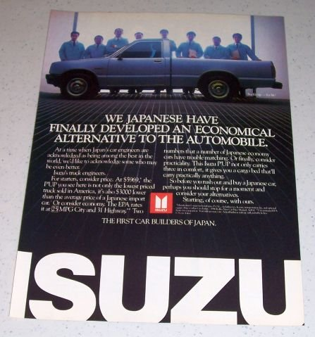 1986 Isuzu P'UP Pickup Truck Color Ad