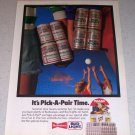 1986 Budweiser Beer Volleyball Themed Color Brewery Ad