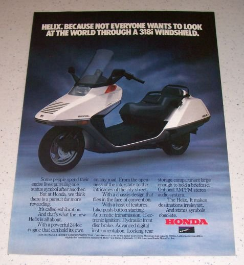 1986 Honda Helix Scooter Color Ad