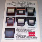 1985 Sharp Television VCR Electronics Color Ad