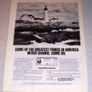 1986 U.S. Savings Bonds Portland Head Light Maine Color Ad