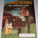 1985 Camel Filters Cigarettes Land Rover Color Tobacco Ad