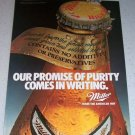 1986 Miller High Life Beer Color Brewery Ad