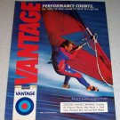1986 Vantage Cigarettes Watersports Color Tobacco Ad