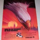 1986 USPS United States Postal Service Express Mail Eagle Art Color Ad