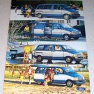 1986 Ford Aerostar Mini Van Color 2 Page Ad