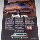 1986 Dodge Ram Wagon Color Van Ad