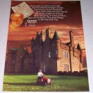 1986 Dewar's White Label Scotch Whiskey Color Liquor Ad Ayton Scotland Castle