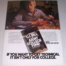 1986 ARMY GI Bill Army College Fund Color Ad