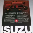 1986 Isuzu Trooper II Color SUV Ad