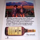 1985 Seagram's Canadian Whiskey Color Liquor Ad Ernest Paine Steve Wade Yerington Nevada