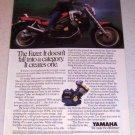 1986 Yamaha Fazer Motorcycle Color Ad