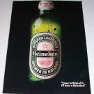1986 Heineken Lager Beer Color Brewery Ad