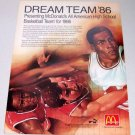 1986 McDonalds Dream Team '86 High School Basketball Color 2 Page Ad