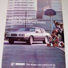 1986 Mercury Cougar Automobile Color Car Ad