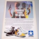 1986 Converse Weapon Shoes Color Footwear Ad Celebrity NBA Players Larry Bird Magic Johnson