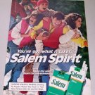 1986 Salem Cigarettes Football Color Tobacco Ad