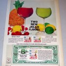 1963 Jello Gelatin Fruit Flavors Color Print Ad