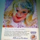 1963 Northern Lavender Bath Tissue Girl Art Color Print Ad