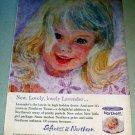 1963 Northern Lavender Bath Tissue Girl Art Color Print Ad