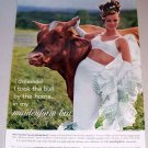 1962 Maidenform New Variette Bra Bull Animal Color Print Ad