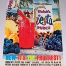 1961 Welch's Fiesta Punch Beach Themed Color Print Ad