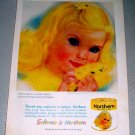 1961 Northern Pale Gold Bath Tissue Color Print Ad