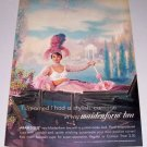 1961 Maidenform Arabesque Bra Carriage Art Color Print Ad