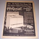 1952 Print Ad for 1953 Hotpoint Pushbutton Range Stove