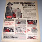 1952 Ford Farming Tractor Color Print Ad