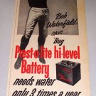 1952 Prest-O-Lite Battery Bob Waterfield NFL LA Rams Quarterback Print Ad