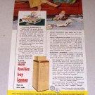 1952 Lennox Furnace Company Color Print Ad