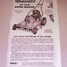 1952 Worcester Rotor Master Lawn Mower Print Ad
