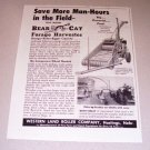 1952 Bear Cat Forage Harvester Farming Implement Print Ad