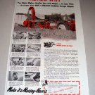 1952 Massey Harris Forage Clipper Farming Implement Print Ad