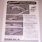 1952 Eversman Automatic Land Leveler Scraper Print Ad
