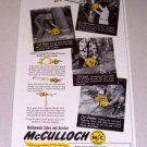 1952 McCulloch Chain Saws Print Ad