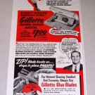 1952 Gillette Super Speed Razor MLB New York Yankees Allie Reynolds Print Ad