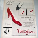 1957 Brown Shoe Company Naturalizer Shoes Color Print Ad