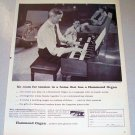 1957 Hammond Spinet Model Organ Print Ad