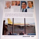 1957 Boeing 707 Jetliner Airplane Color Print Ad