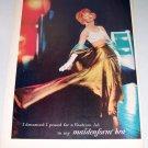 1957 Maidenform Bra Color Print Ad