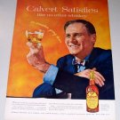 1955 Calvert Reserve Blended Whiskey Color Print Ad